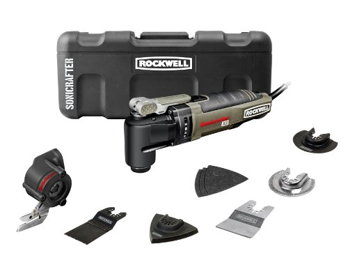Rockwell Rk5140K Sonicrafter Hyperlock With Universal Fit And Constant Speed Control Oscillating Tool Kit