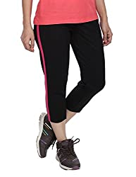Vishal Women Black Capris