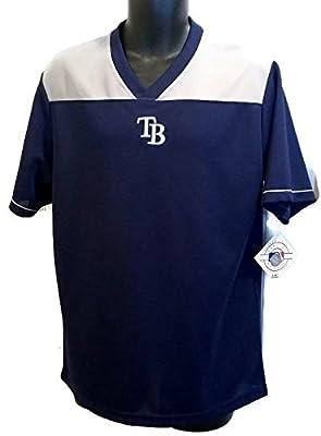MLB Tampa Bay Rays Mens Jersey Pullover V-Neck