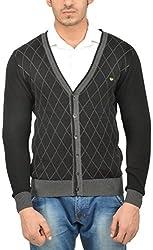 UV&W Men's Cotton Sweater (WSSF23 BLACK, S)