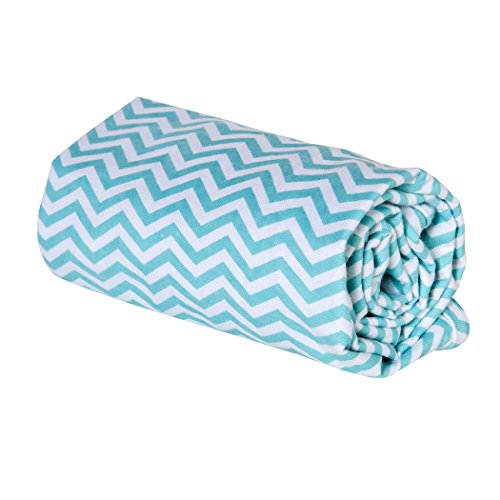 Trend Lab Swaddle Blanket, Mint Chevron - 1