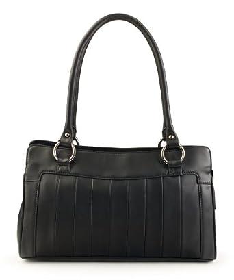 Visconti Jennifer 18828 Leather Handbag Ladies / Top Handle Bag (Black)