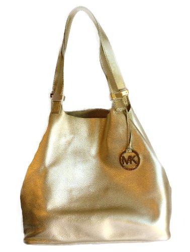 MICHAEL Michael KorsMichael Kors Colgate Genuine Leather Large Grab Bag Pale Gold