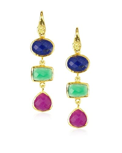 Jardin Triple Stone Drop Earrings