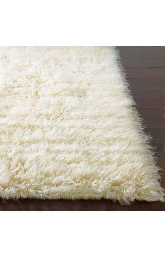 modern carpet flokati area rug 5x7 natural wool white heavy soft shag carpet. Black Bedroom Furniture Sets. Home Design Ideas