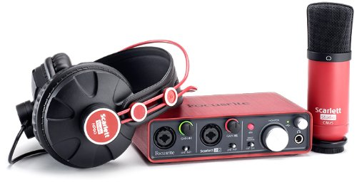 Focusrite Scarlett Studio Pack Inc Scarlett 2i2 Audio Interface, CM25 Condenser Mic, HP60 Headphones