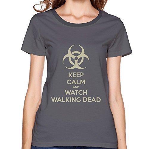 Kc Watch Walking Dead Women Design T-Shirts Deep Heather (Multy Colors)