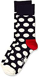 Happy Socks Men's Calf Socks (8904214908935_BD01-608_Medium_Blue)