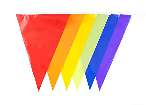 30ft Multi Color Flags Banner Rainbow Bunting Party Decoration (M1002)