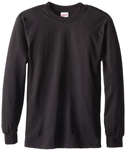 Soffe Big Boys' Long Sleeve T-Shirt,Black,S (8)