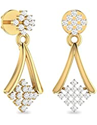 WearYourShine By PC Jeweller The Zosima Collection 18k Yellow Gold And Diamond Stud Earrings