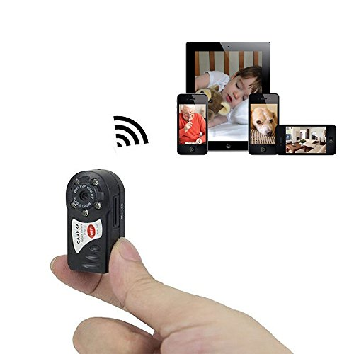 SUPERS Mini P2P WiFi IP Camera HD DVR Hidden Spy Camera Video Recorder Indoor / Outdoor Motion Detection Security Support iPhone/Android Phone/iPad/PC