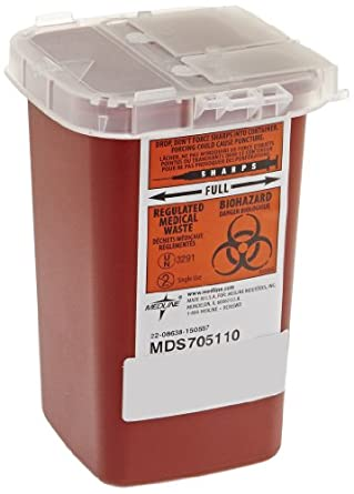 Sharps Container Biohazard Needle Disposal 1 Qt Size