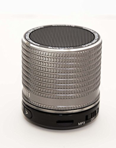 Super Bass Portable Bluetooth Speaker For Iphone / Galaxy Gunmetal Aluminum