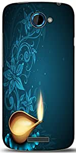 Snoogg Greeting Card For Diwali Celebration In India Designer Protective Back Case Cover For HTC One S