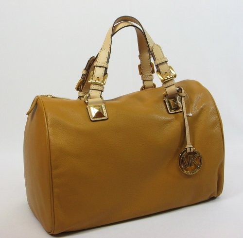 MICHAEL Michael Kors Grayson Large Satchel TAN