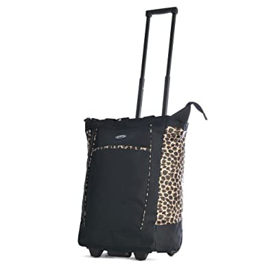 Olympia Fashion Rolling Shopper Tote - Leopard