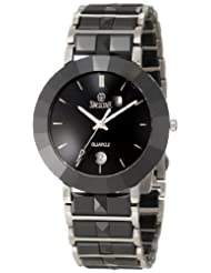 Swistar Men's 44203-M Swiss Quartz Scratch Resistant Ceramic and Stainless Steel Dress Watch
