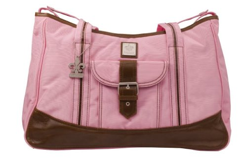 Gorgeous Zippered Top Kalencom Weekender Tote Diaper Bag With With Mesh Storage Pockets - Power Pink Nourrisson, Bébé, Enfant, Petit, Tout-Petits