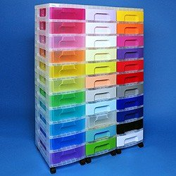 Storage tower triple with 33x7 litre Really Useful Drawers ...