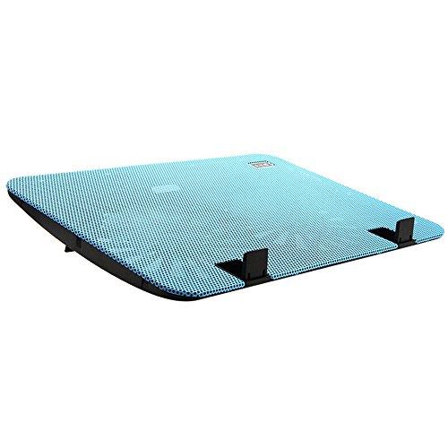 Alxcio Ultra-schlank Laptop Cooling Pad 11-15.6 Zoll USB Powered Notebook Cooler Gaming Crony CPU-Kühler mit 2 Lüfter und Dual USB Port, Windgeschwindigkeit und Leiser Betrieb Ultra-portable Heizkörper, Blau