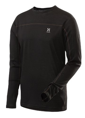 Haglöfs Herren Funktionsshirt Actives Merino Roundneck, black, L, 601456_900
