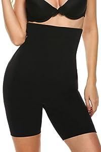 Ekouaer Women's Shapewear Hi-Waist Tummy Control Boyshort&Thigh Slimmer
