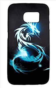Generic Soft Night Glow Dragon Printed protective Back cover for Samsung Galaxy S6 Edge - Multi Colour