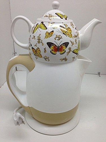 Maress Tea Set And Cordless Kettle Teapot - Butterfly