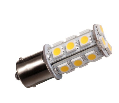 Mictuning Ba15S 1156 1141 High Bright Car Led Bulb 18-5050Smd Dc12V Warm White Pack Of 10