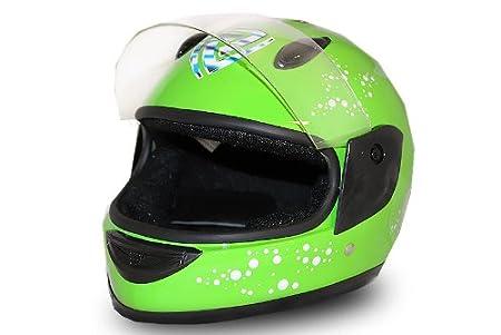 Vollvisier casque de vélo vert taille s casque de moto intégral pour enfant quad neuf