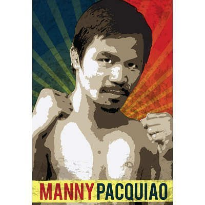 (12x18) Manny Pacquiao Pacman Boxing Sports Indoor/Outdoor Plastic Sign by Poster [並行輸入品]