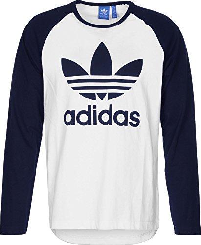Adidas Trefoil Ls Tee Maglia Maniche Lunghe - Multicolore (White/Legend Ink) - XL
