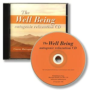 THE WELLBEING AUTOGENIC RELAXATION CD for stress anxiety panic disorder