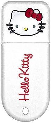 Hello Kitty - USB flash drive - 4 GB - USB - white by Dane-Elec Memory
