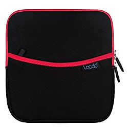 Lacdo Shockproof External USB CD DVD Writer Blu-Ray & External Hard Drive Neoprene Protective Storage Carrying Sleeve Case Pouch Bag With Extra Storage Pocket for Apple MD564ZM/A USB 2.0 SuperDrive / Apple Magic Trackpad / SAMSUNG SE-208GB SE-208DB SE-218GN SE-218CB / LG GP50NB40 GP60NS50 / ASUS External DVD Drives (Red)