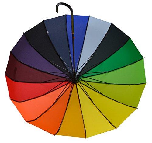 OUTGEEK Rainbow Umbrella Pagoda Long Handle Vintage Windproof Umbrella Parasol 3