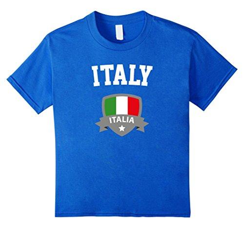 Kids Italy Italian Flag T-Shirt - Badge (Italia) - Unisex 6 Royal Blue (Kids Italian Shirts compare prices)