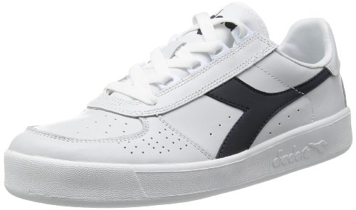 Diadora Men's B Elite Court Shoe, Blue Denim/White, 8 M US