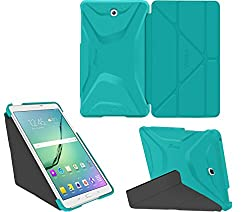 Galaxy Tab S2 8.0 Case, Samsung Galaxy Tab S2 8.0 case, rooCASE Origami Ultra Slim Shell Lightweight Tablet Sleep / Wake Stand Folio Cover - Blue