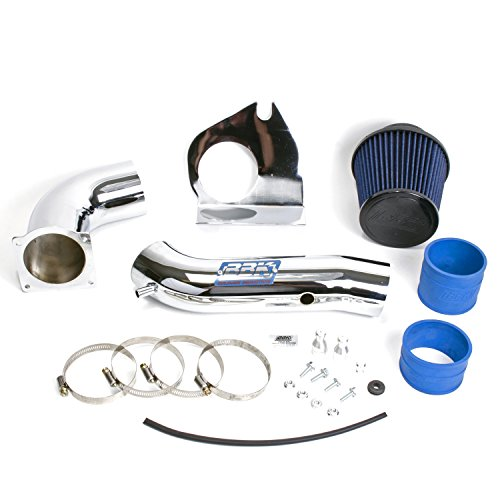 BBK 1719 Cold Air Intake System - Power Plus Series Performance Kit for Ford Mustang 3.8L V6 - Fenderwell Style - Chrome Finish (04 Mustang Air Intake Kit compare prices)