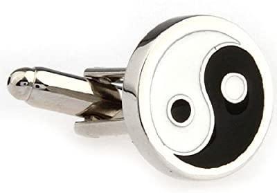 Yin and Yang Cufflinks with a Presentation Gift Box