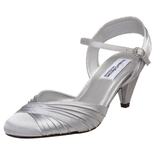 Dyeables Women's Alexis  Sandal,Silver,7.5 W US