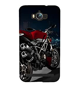 Printvisa Red Colour Racing Bike On Display 3D Hard Polycarbonate Designer Back Case Cover For Asus Zenfone Max :: Asus Zenfone Max Zc550Kl