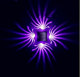 led wall light sconce for living room, hallway, bedroom , - purple ...