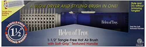 Helen of Troy 1573 Against Free Hot Air Brush, White, 1 1/2 Inches Barrel