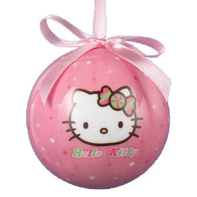 80MM HELLO KITTY DECOUPAGE BALL