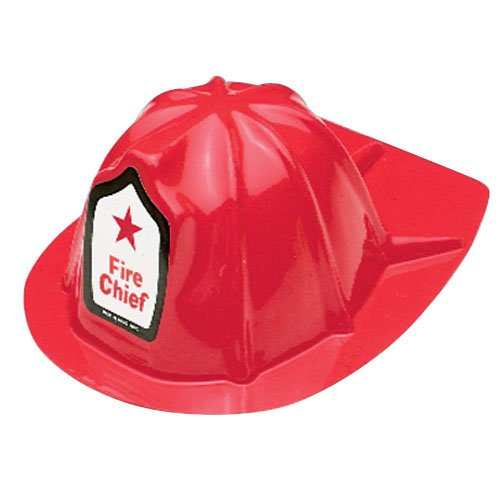 US TOY GROUP LLC -Kids Firefighter Helmets, Plastic, Package of 12