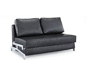 Westport Home Gia Contemporary Sofabed, Black