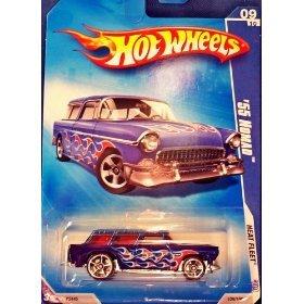 Hot Wheels 2009-125 Heat Fleet #9 '55 Nomad 1:64 Scale - 1